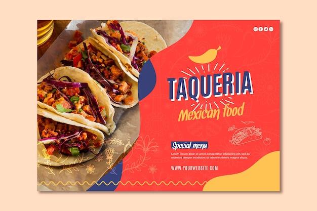 Mexican restaurant banner