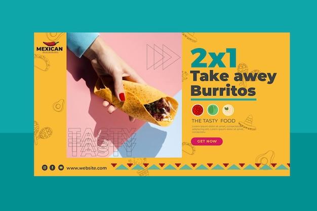 Banner ristorante messicano