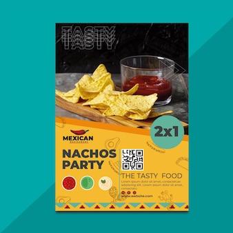 メキシコ料理店のポスター