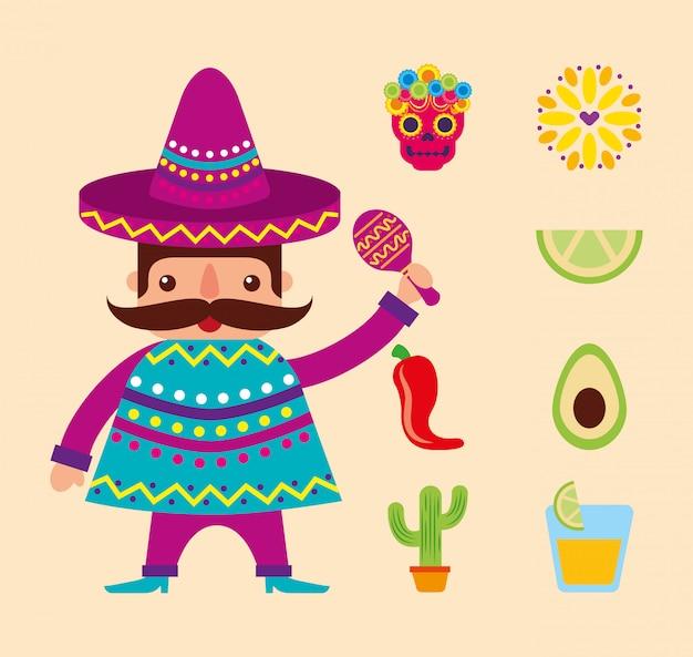 メキシコセットデザイン、メキシコ文化観光ランドマークラテンおよびパーティーテーマ