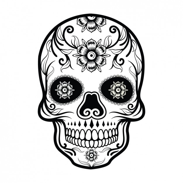 sugar skull vectors photos and psd files free download rh freepik com sugar skull vector free download sugar skull vector image