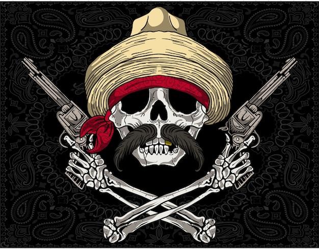 Mexican skull revolutionary