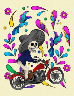 伝統的なメキシコの頭蓋骨