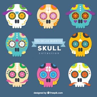 Teschi messicani decorati per il giorno dei morti