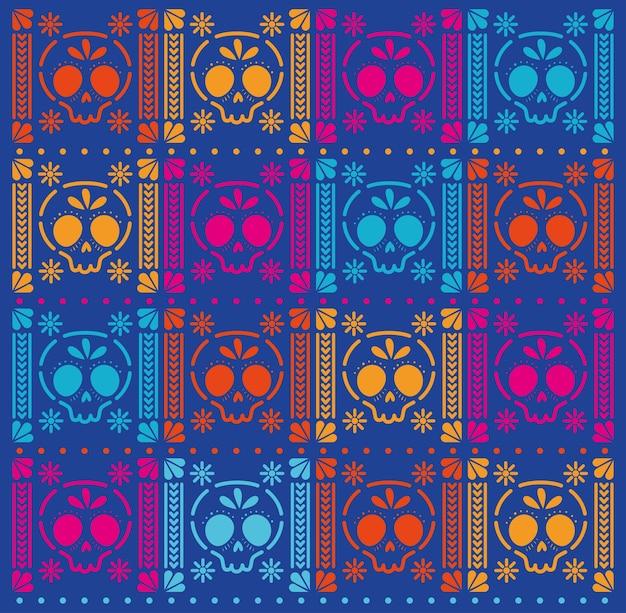 Мексиканские черепа шаблон фона дизайн.