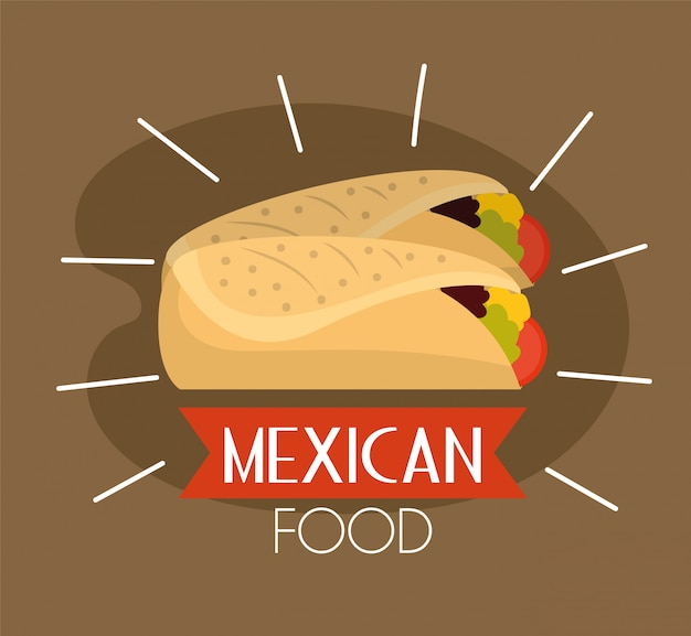 Mexican spicy tacos traditional food