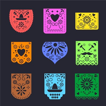メキシコ風の旗布コレクション