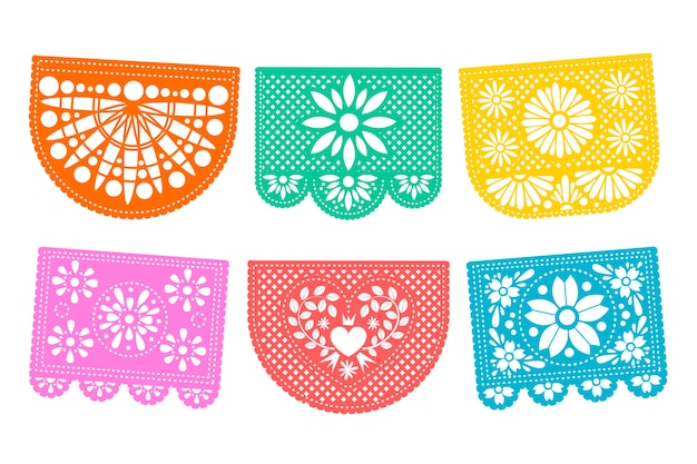 Mexican style bunting set