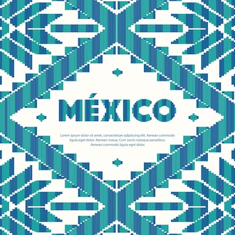 Mexican style pattern copy space template