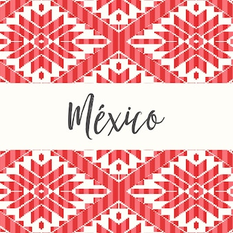 Mexican style pattern - copy space template