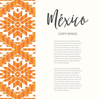Mexican style pattern - copy space vertical banner template