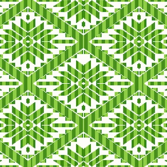 Mexican style pattern with green details