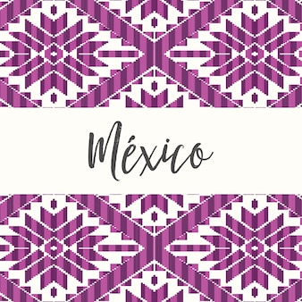 Mexican style pattern with purple details