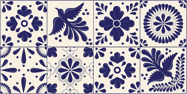 Mexican talavera horizontal pattern