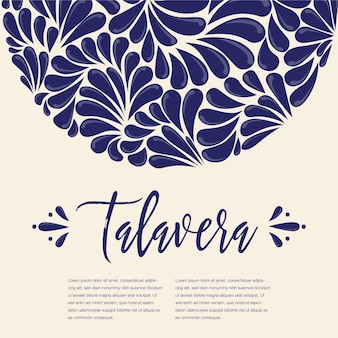 Mexican talavera painting composition