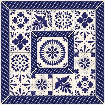 Mexican talavera pattern