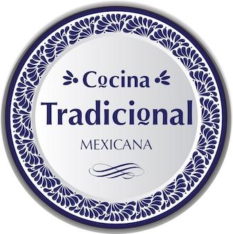 Mexican talavera style ceramic plate