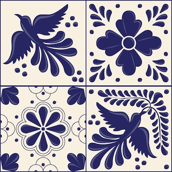 Mexican talavera tile set