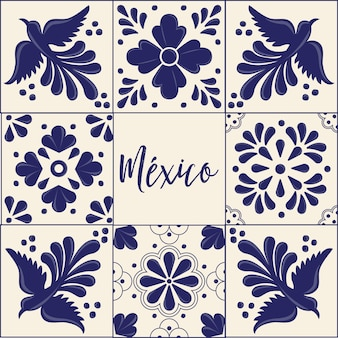 Mexican talavera tiles collection