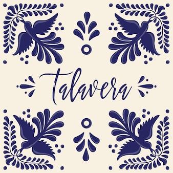 Mexican talavera tiles composition