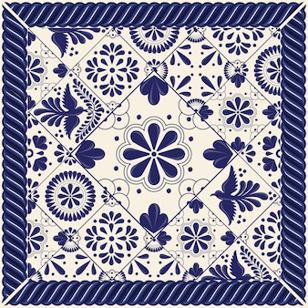 Mexican talavera tiles composition