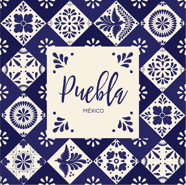 Mexican talavera tiles from puebla