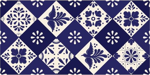 Mexican talavera tiles for horizontal banner