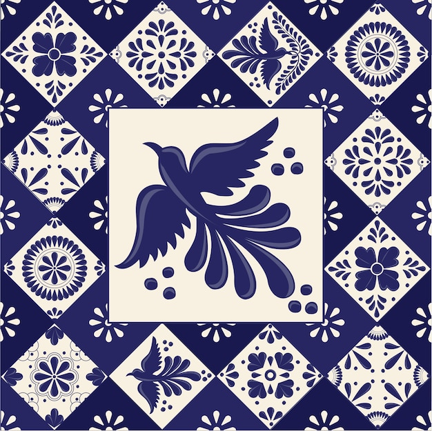 Mexican talavera tiles template