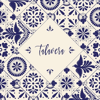 Mexican talavera tiles - template