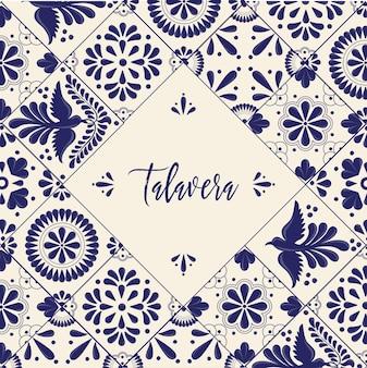 Мексиканская плитка талавера - шаблон