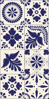 Mexican talavera tiles vertical template