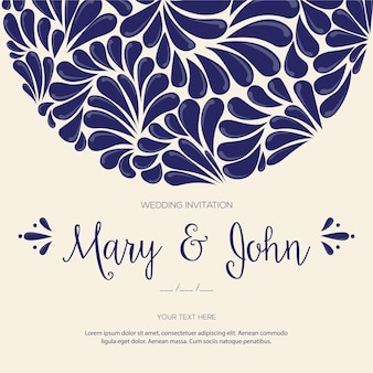Mexican talavera tiles wedding invitation template