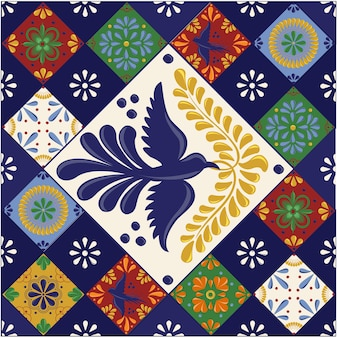 Mexican talavera tiles with shapes