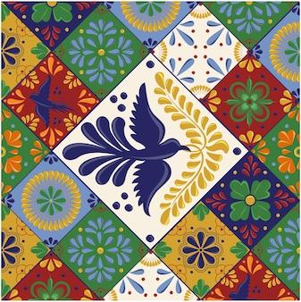 Мексиканская плитка талавера