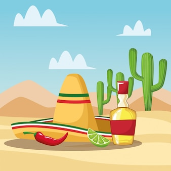 Mexican tequila cartoons
