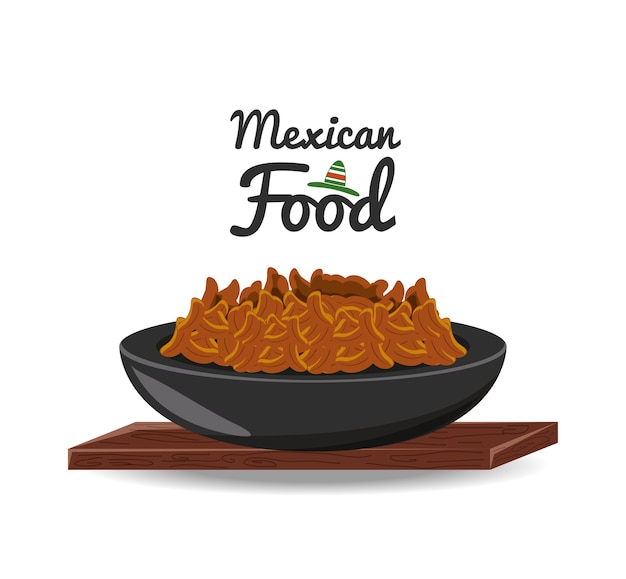 Mexican traditional food chili with meat