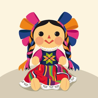 Mexican traditional maria doll