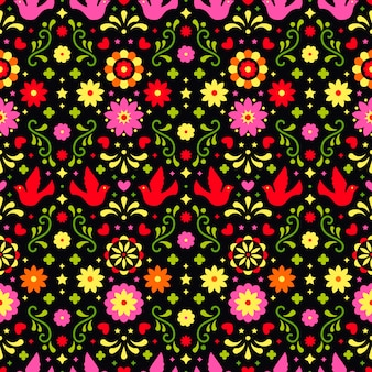 Mexican traditional seamless pattern for party