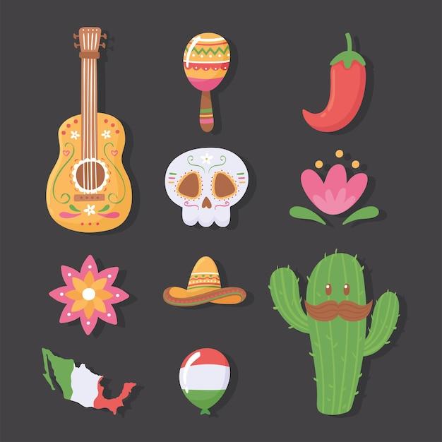 メキシコの伝統的なセット