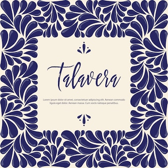Mexican traditional talavera style frame