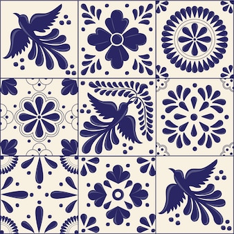 Mexican traditional talavera style tiles