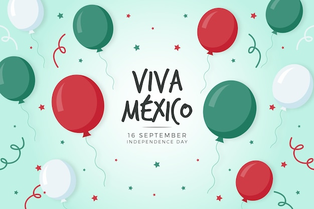 Mexican war of independence wallpaper with balloons