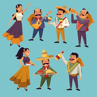 Mexicans native cartoons