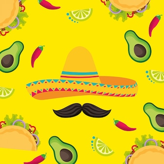 Mexico cinco de mayo background