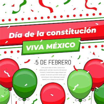 Mexico constitution day balloons