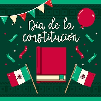 Mexico constitution day wallpaper with book