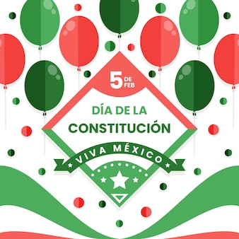 Mexico constitution day with balloons