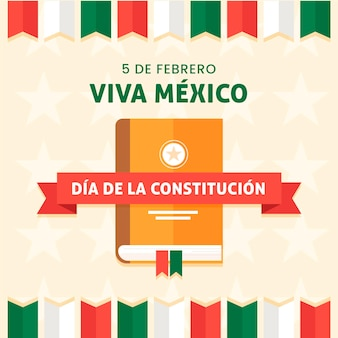 Mexico constitution day with book