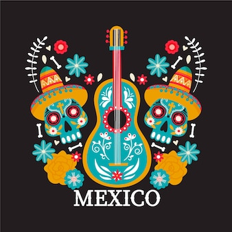 Mexico country illustration.