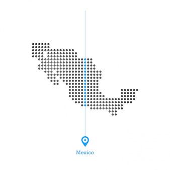 멕시코도지도 디자인 벡터